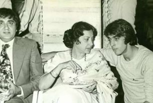 sanjai dutt with mother nargis and father sunil dutt